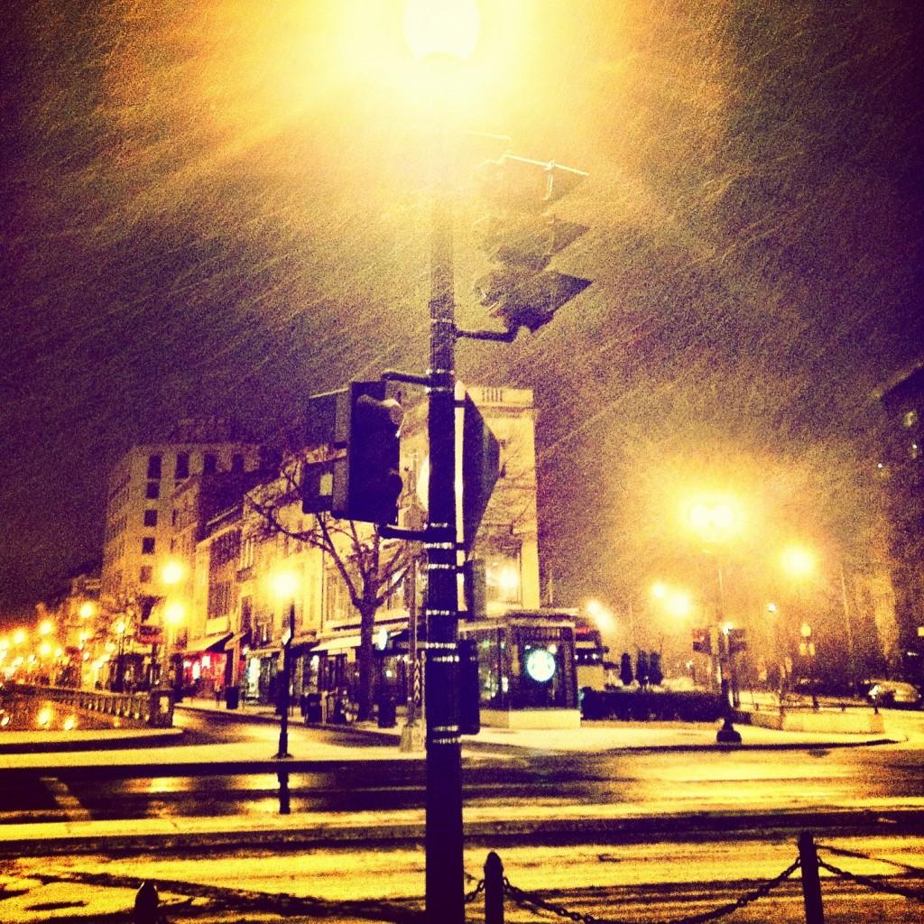 First Snow, D.C. 2012