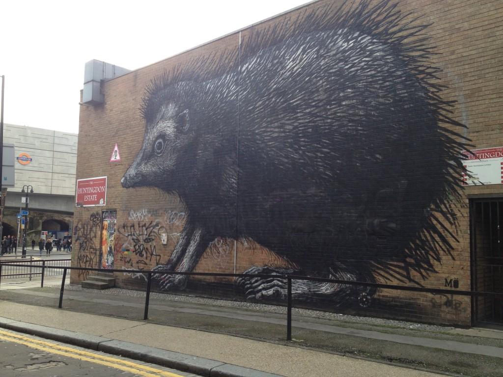 Hedgehog street art
